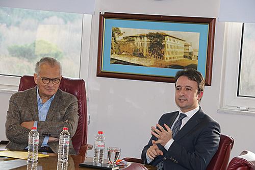 Darüşşafaka Cemiyeti Yönetim Kurulu Başkanı Talha Çamaş ve İlahiyatçı Fatih Savaş