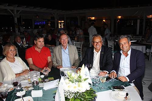 İmren Aykut, Bodrum Belediye Başkanı Mehmet Kocadon, Bülent Akarcalı, Talha Çamaş ve Richard Özatacan